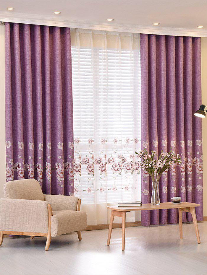 Screening Embroidery Blackout Window Curtain roman rose embroidery sheer screening tull curtain