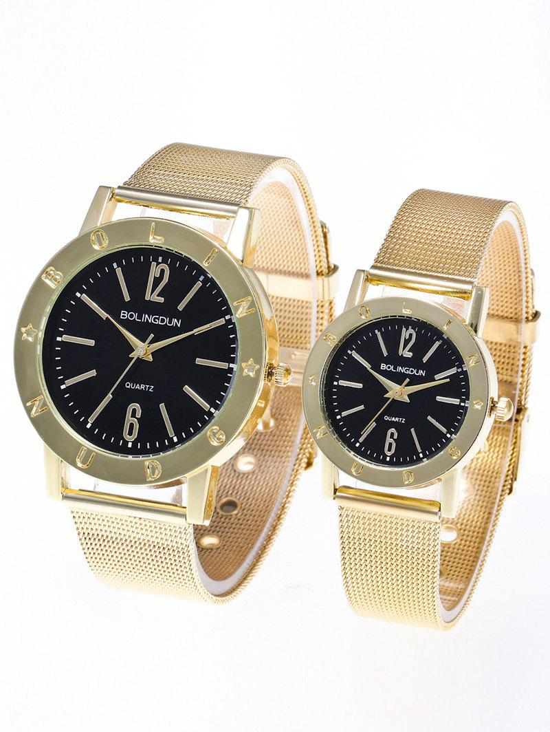 Steel Mesh Band Montres couple - Or