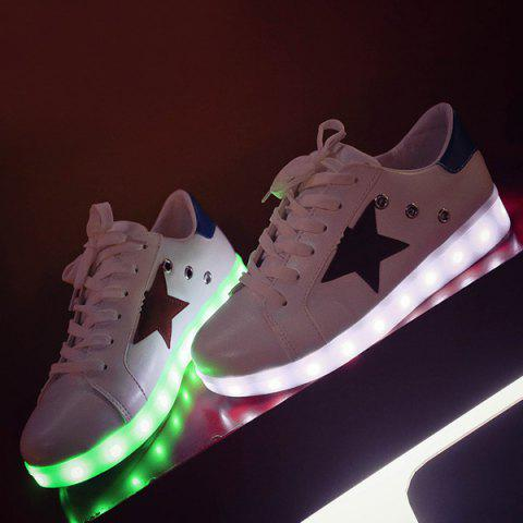 Led Chaussures Luminous Oeillets - Blanc 38