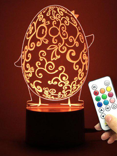 Cadeau de Pâques Forme Egg Multicolor LED Night Light - Transparent