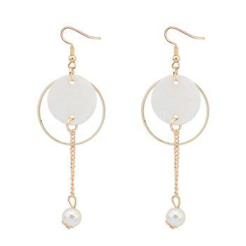 Faux Stone Pearl Drop Earrings
