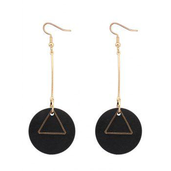 Triangle Round Drop Earrings