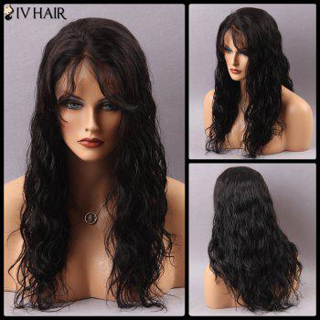 Siv Hair Long Side Part Curly Lace Front Human Hair Wig