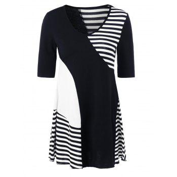 Striped Trim Longline T-Shirt