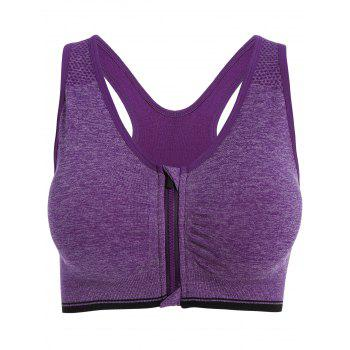 Zipper Padded Sports Bra