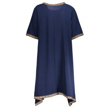 Plus Size Embroidery Swing Dress - ONE SIZE ONE SIZE