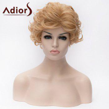 Adiors Short Layered Cut Curled Side Bang Fluffy Synthetic Wigs