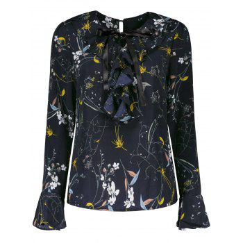Plus Size Long Sleeve Floral Blouse