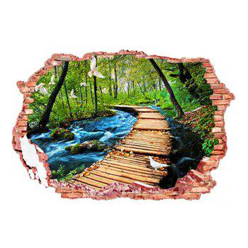 Buy 3D Stereo Nature Landscape Design Home Decor Wall Stickers COLORFUL