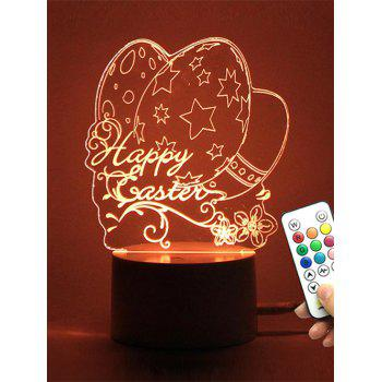 Easter Eggs 3D Visual LED Color Change Night Light
