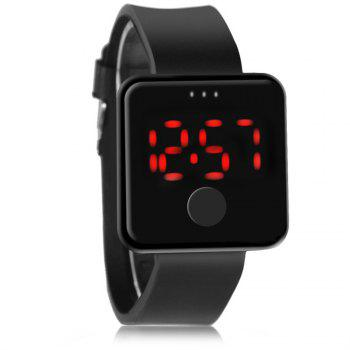 LED Digital Watch - BLACK BLACK