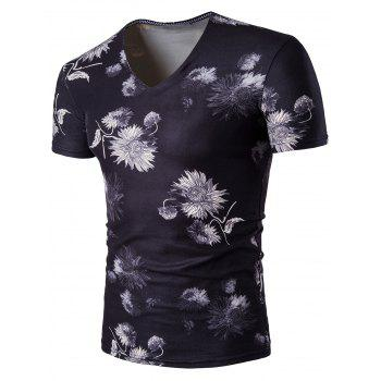 Chrysanthemum V Neck T-Shirt