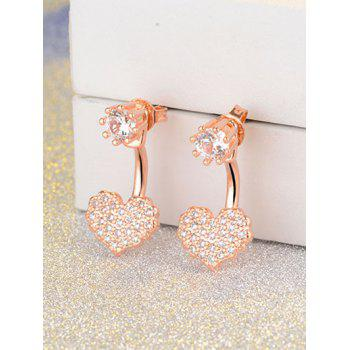 Heart Rhinestone Ear Jackets
