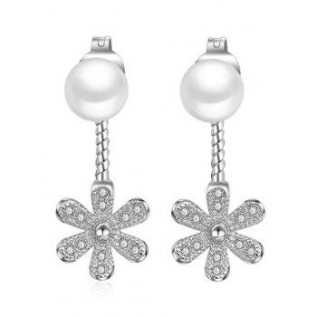 Artificial Pearl Flower Ear Jackets