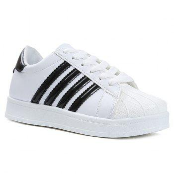Colour Block Shell Toe Athletic Shoes