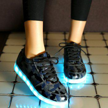 Camouflage Pattern Led Luminous Athletic Shoes