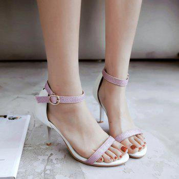 Glitter Ankle Strap Sandals