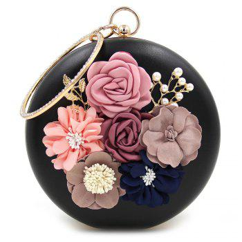 Flowers Round Shaped Evening Bag