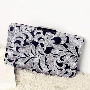 Embroidered Clutch Evening Bag