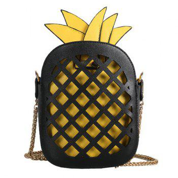Hollow Out Pineapple Shaped Crossbody Bag