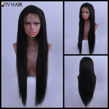 Siv Hair Straight Long Lace Front Human Hair Wig