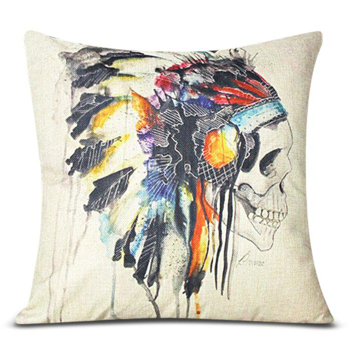 Fashion Skull Pattern Square Decorative Pillowcase(Without Pillow Inner) - COLORMIX