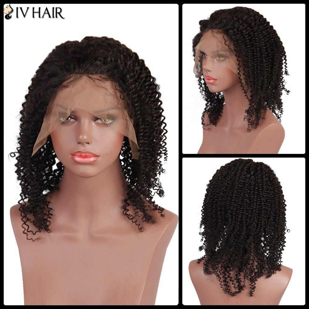 Siv Hair Kinky Curly Long Front Lace Human Hair Wig 7a glueless human hair curly lace front wig with baby hair unprocessed brazilian virgin curly full lace hair wig for black women