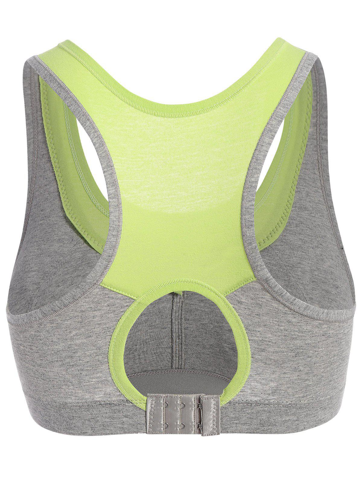 Padded Two Tone Sports Bra - Vert Cristal XL