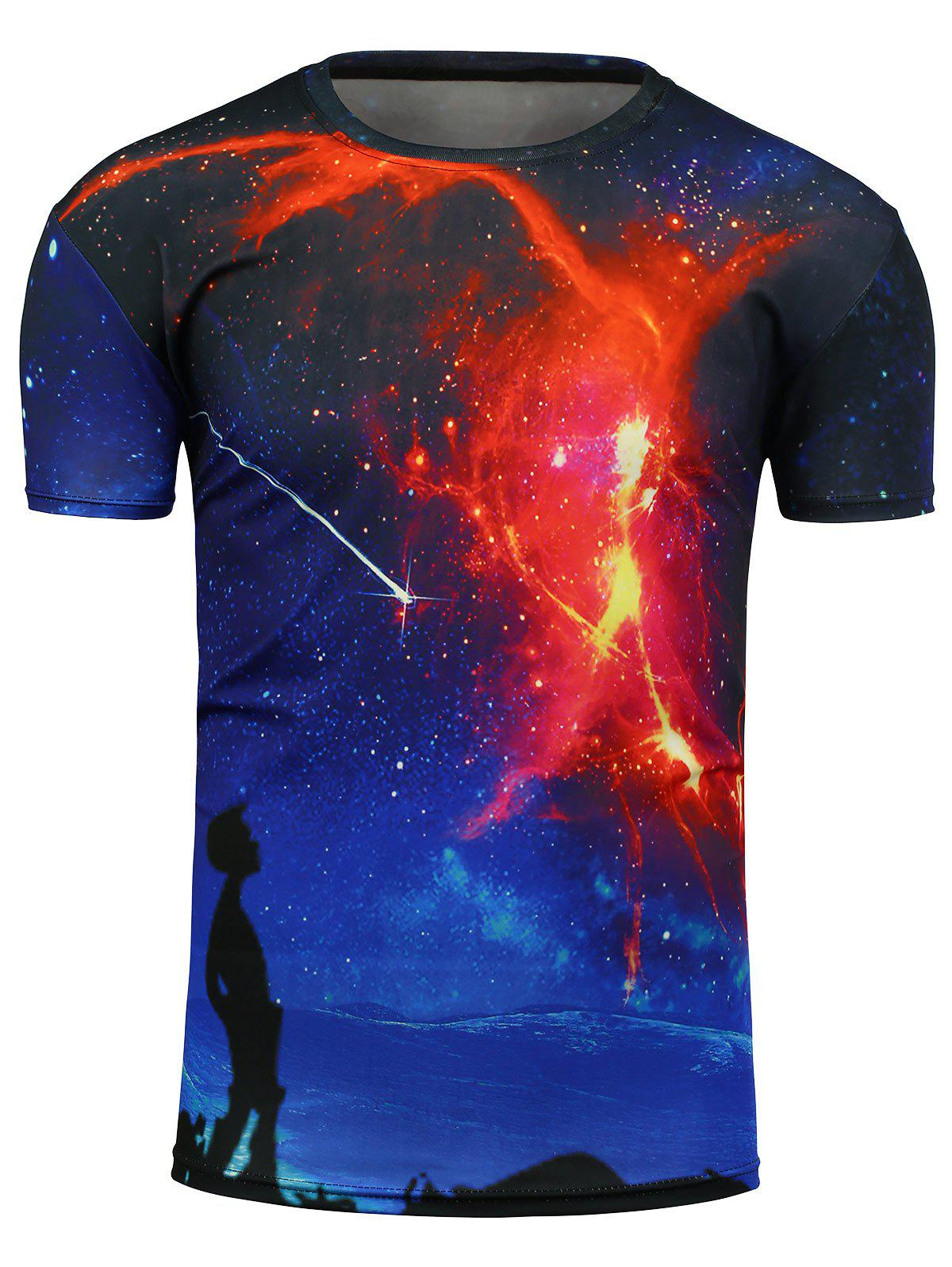 Imprimé 3D Galaxy Graphic T-Shirt - multicolorcolore M
