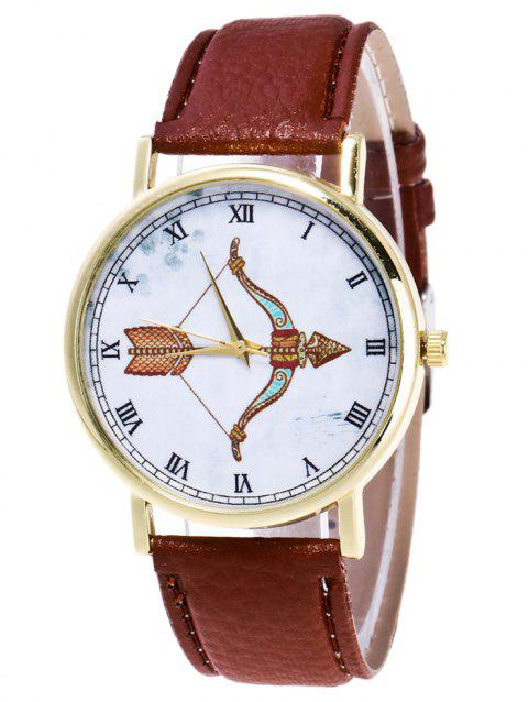 Cartoon Arrow Roman Numerals Watch - BROWN