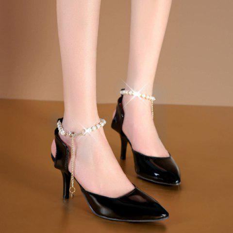 bb45af903b4 Pointed Toe Faux Pearls Pumps