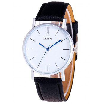 Faux Leather Analog Quartz Watch