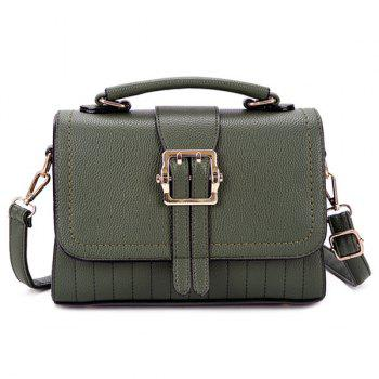 Stitching Buckle Strap Crossbody Bag