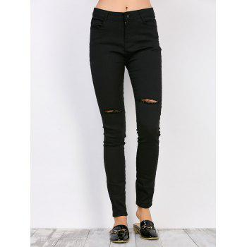 High Waisted Distressed Jeans Cheap Casual Style Online Free ...