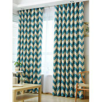 Wave Stripe Design Sun-Shading Blackout Curtain