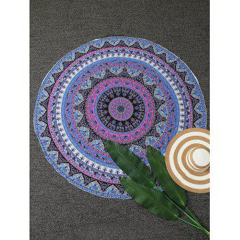 Tiny Floral Round Pattern Beach Throw - BLUE ONE SIZE