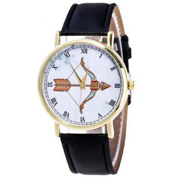 Cartoon Arrow Roman Numerals Watch