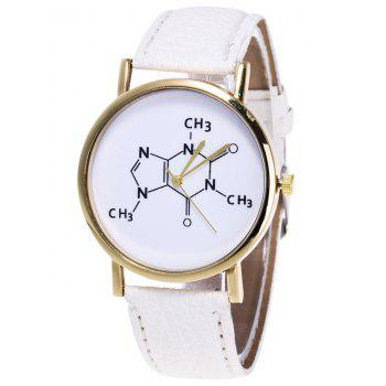 Chemical Formula Pattern Analog Watch