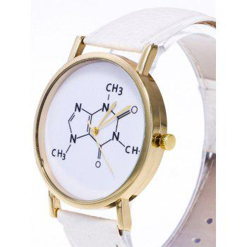 Chemical Formula Pattern Analog Watch - BROWN