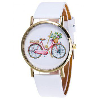 Cartoon Bike Pattern Quartz Watch