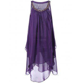 Overlay Tent Dress with Chains