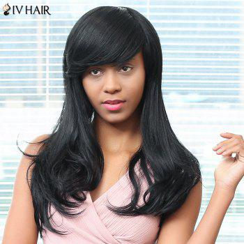 Siv Hair Long Oblique Bang Straight Human Hair Wig
