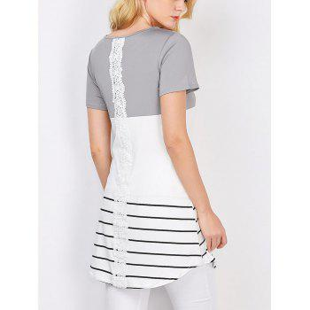 Color Block Stripe Tunic Top
