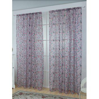 Multi Circle Embroidered Sheer Tulle Curtain