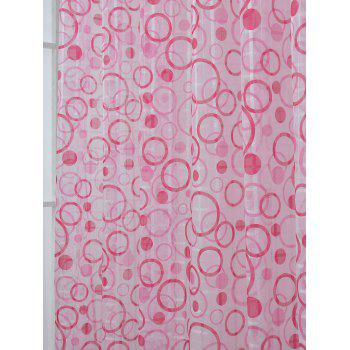 Multi Circle Embroidered Sheer Tulle Curtain - 100*250CM 100*250CM
