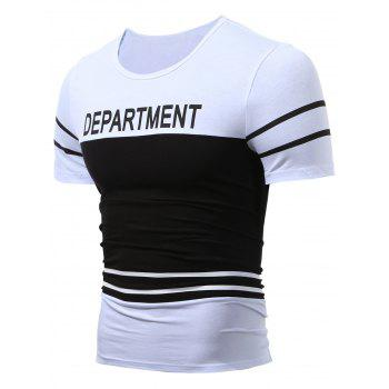Department Printed Two Tone T-Shirt