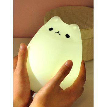 Best Gift Cartoon Cat Night Light with Remote Control - CRYSTAL CREAM PATTERN C