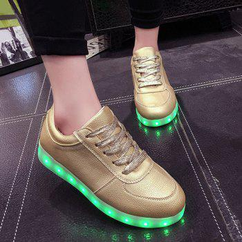 Golden Led Luminous Athletic Shoes