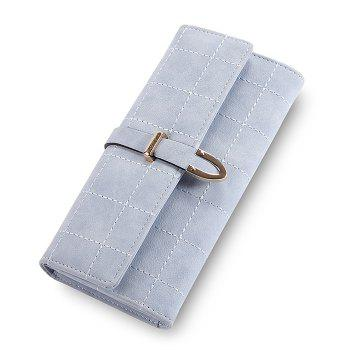 Metal and Stitching Detail Clutch Wallet