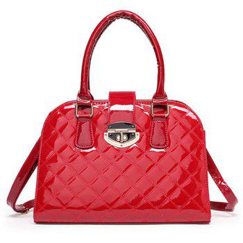 Quilted Patent Leather Handbag